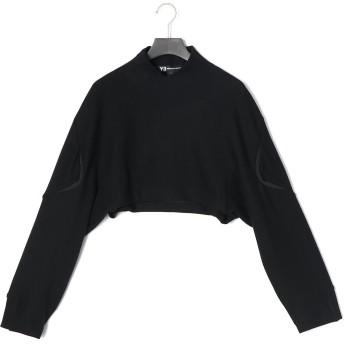 【50%OFF】ショート 長袖トップ ブラック s