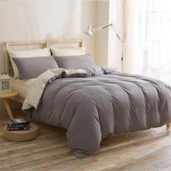 柔らかく快適 寝具-1.2M(三枚)寝具セットのアクティブ印刷、染色冬のシーツ掛け布団カバー枕カバー四セットのホームテキスタイルシンプルなソリッドカラーサンディング三セット (Size : 1.2m (three pieces))