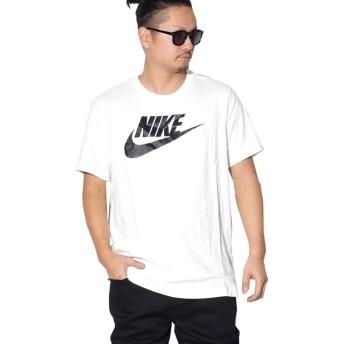 (ナイキ) NIKE Tシャツ 大きいサイズ メンズ USAモデル B系 ストリート Sportswear Futura Logo T-Shirt AR5004 ホワイト/ブラック 2XL [並行輸入品]