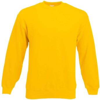 (フルーツオブザルーム) Fruit Of The Loom メンズ セットインスリーブ 長袖スウェットシャツ トレーナー トップス 男性用 (2XL) (黄色)