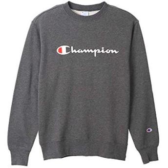 Champion(チャンピオン)スウェットシャツ トレーナーC3-Q002 ロゴ(M 089ヘザーチャコール)