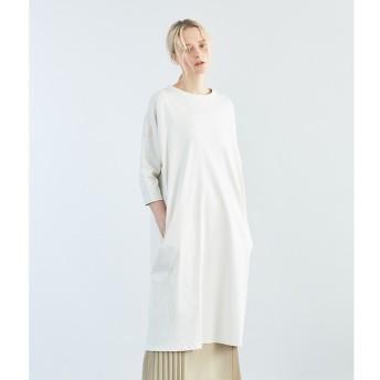 【シプリ/SIPULI】 スヴィンコットンリバーシブル天竺 オーバーサイズ切り替えドレス