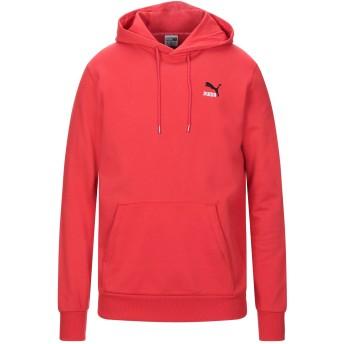 《セール開催中》PUMA メンズ スウェットシャツ レッド S コットン 100% Classics Emb Hoodie Cotton