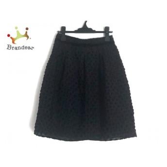 エムズグレイシー M'S GRACY スカート サイズ38 M レディース 黒 リボン/ドット柄 新着 20200130