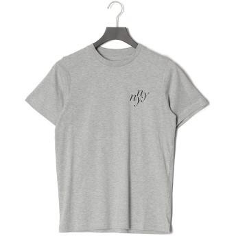 【50%OFF】NY NY ロゴプリント クルーネック 半袖Tシャツ グレー s