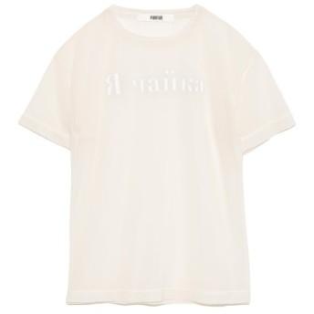 ファーファー ロゴシアーTシャツ レディース IVR F 【FURFUR】