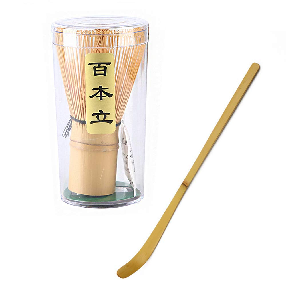 Bamboo Tea Whisk with Spoons Set Matcha Chasen by JapanBargain JapanBargain Brand