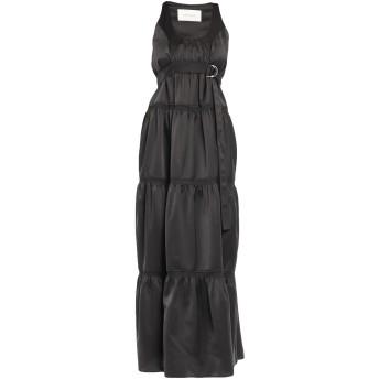 《セール開催中》CEDRIC CHARLIER レディース ロングワンピース&ドレス ブラック 38 ポリエステル 100%