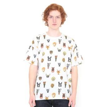 【グラニフ:トップス】Tシャツ/アニマルズパターン(ミロコマチコマルチパターンショートスリーブティー)