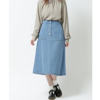【レイカズン/RAY CASSIN】 デニムベイカーミドルスカート