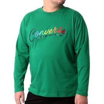 [コンバース] Tシャツ メンズ おおきいサイズ 長袖 ロゴ プリント グリーン 5L
