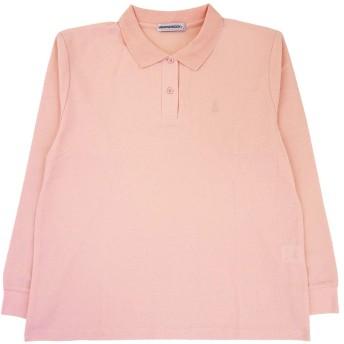 WEATHERCOCK 婦人長袖鹿の子ポロシャツ 7101500 ピンク LL