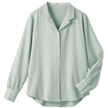 20%OFF【レディース】 オープンカラーシャツ ■カラー:ミント ■サイズ:S,M,L,LL,3L