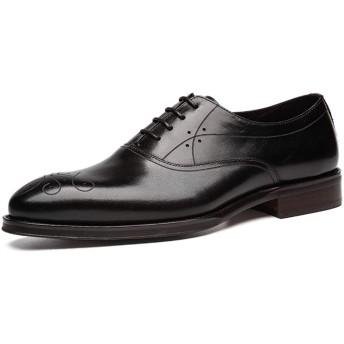 [WEWIN] ビジネスシューズ 革靴 紳士靴 メンズ 本革 ウォーキング ドレスシューズ 内羽根 快適 防滑 通気 冠婚葬祭 カジュアル フォーマル 普段用 履きやすい シューズ イングランド風 おしゃれ