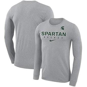 ナイキ メンズMichigan State Spartans Hockey Legend Performance Long Sleeve T-Shirt ロンT 長袖 Heathered Gray_XXL [並行輸入品]