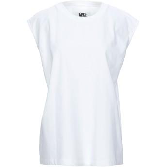 《セール開催中》MM6 MAISON MARGIELA レディース T シャツ ホワイト M コットン 100%