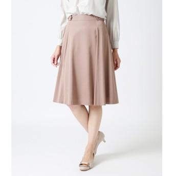 【ニューヨーカー/NEWYORKER】 キュプラモダールサテン 知的フレアスカート