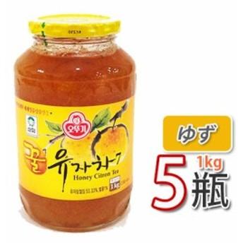 【三和】蜂蜜ゆず茶 ★ 1kg X 5個 ★ ビタミンCがレモンの3倍!美味しく風邪予防!オットギ 韓国お茶 健康茶 蜂蜜ゆず茶 韓国食材 韓国食