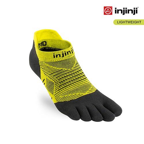 【INJINJI】RUN 輕量吸排五趾隱形襪 [萊姆黃] 五趾隱形襪 |INAB0NAA0322