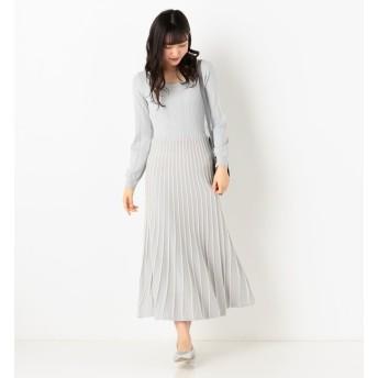 【アルシーヴ/archives】 配色ラインニットワンピース