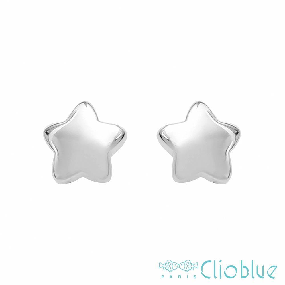【CLIO BLUE】簡單星耳環