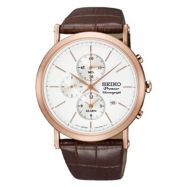 Seiko 精工錶 7T62-0LK0J(SNAF82J1) 正裝系列纖薄羅馬計時腕錶/白面 41mm