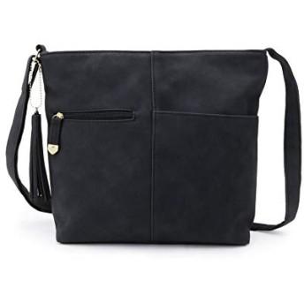 [ シューラルー ] ショルダーバッグ 長財布収納ポケット付きスクエアショルダーバッグ C7008202 レディース ブラック(019) 00