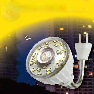 23LED感應燈泡(可彎插頭型)(暖黃光)