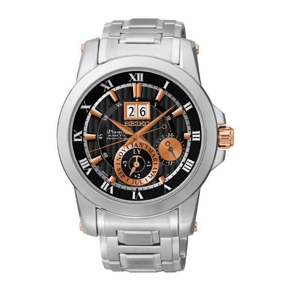 Seiko Premier 7D56-0AB0K(SNP098J1) 人動電能萬年曆大視窗日期經典腕錶/ 41mm