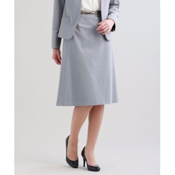 TRANS WORK/トランスワーク 【セットアップ対応】【XSサイズ〜】【美Skirt】トリアセルクスセミフレアースカート グレー3 42