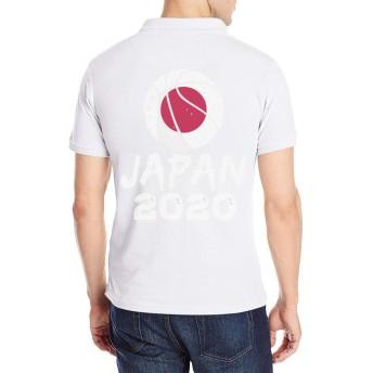 半袖 ポロシャツ メンズ 大きいサイズ ロゴ プリント クラシック バスケット 東京オリンピッ Poloシャツ 軽量 吸汗通気 Tシャツ バックプリント 抗菌防臭 カジュアル シャツ シンプル 通気性 おしゃれ S-2XL