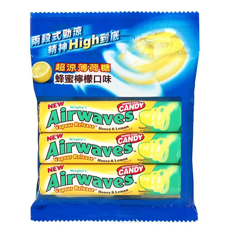Airwaves 超涼薄荷糖-蜂蜜檸檬(10粒x3條/包)[大買家]