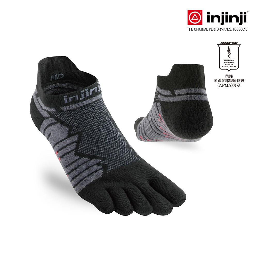 【INJINJI】Ultra Run終極系列五趾隱形襪 [碳黑] 避震襪 運動襪 五趾襪│INAB0NAA6595