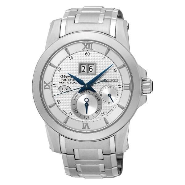 Seiko精工 Premier 7D48-0AR0S(SNP133J1) 萬年曆人動電能腕錶/白面 41.5mm