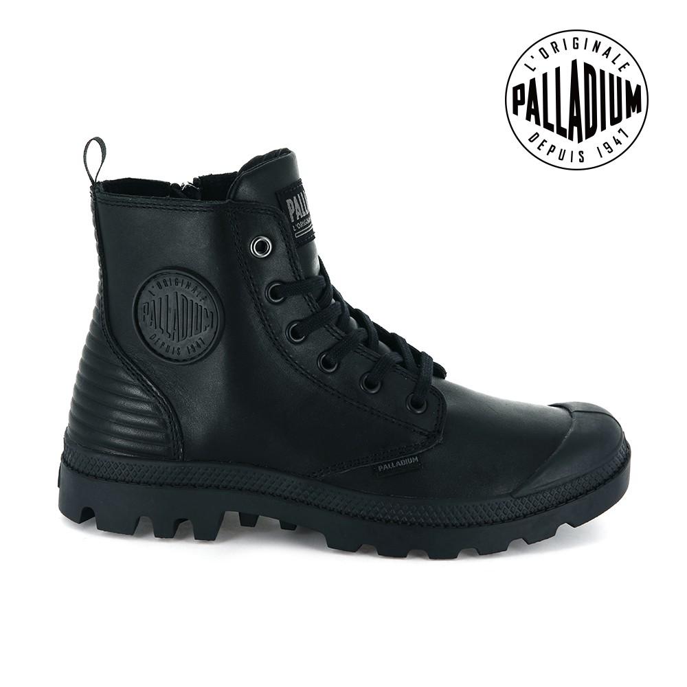 PALLADIUM Pampa Hi Zip CYBER皮革靴-女-黑
