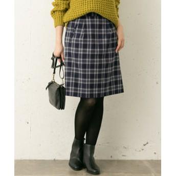 【URBAN RESEARCH:スカート】タック台形スカート