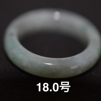 特売 68-120 18.0号 グレー 天然 A貨 翡翠 リング レディース メンズリング 硬玉ジェダイト 墨翠
