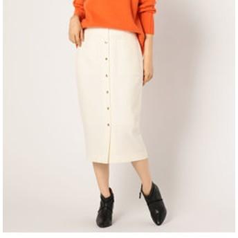 【NOLLEY'S:スカート】フロントドット釦ミディタイトスカート
