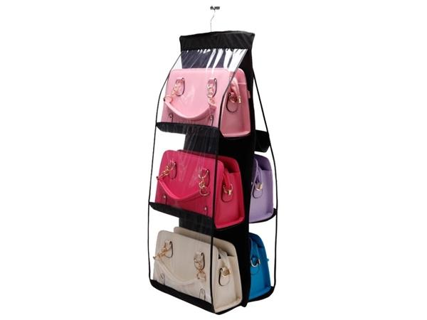 雙層布雙面6格包包收納掛袋(黑色)1入【D280030】,還有更多的日韓美妝、海外保養品、零食都在小三美日,現在購買立即出貨給您。