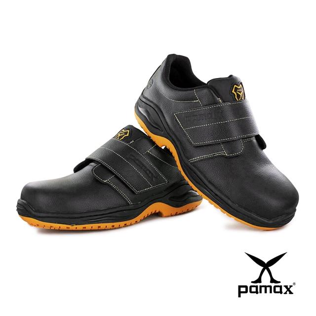 PAMAX 帕瑪斯【頂級專利氣墊、反光、防穿刺+鋼頭安全鞋】全雙PU抗菌、防滑工作鞋PA9502PPH