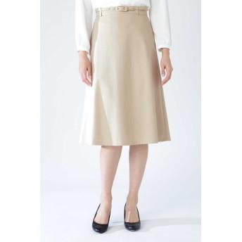NATURAL BEAUTY ◆コンパクトポンチスカート ひざ丈スカート,ベージュ