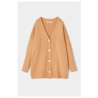 マウジー moussy SHELL BUTTON SLEEVE CARDIGAN (ライトオレンジ)