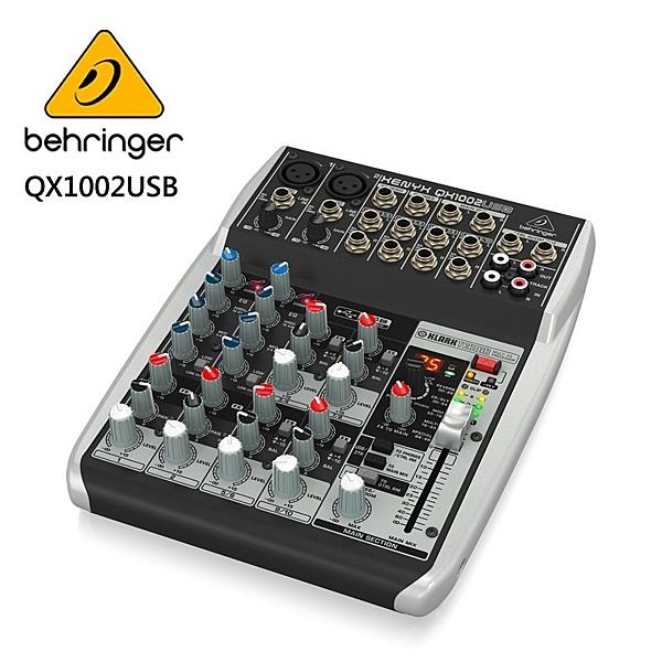 BEHRINGER - QX1002USB專業級小型混音器(具有XENYX麥克風前置放大器和壓縮器)
