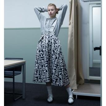【ビームス ウィメン/BEAMS WOMEN】 maturely / Logo Jacquard One Shoulder Flare Skirt