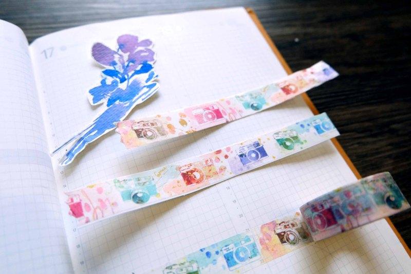 RF底片相機 日本和紙 水彩 紙膠帶