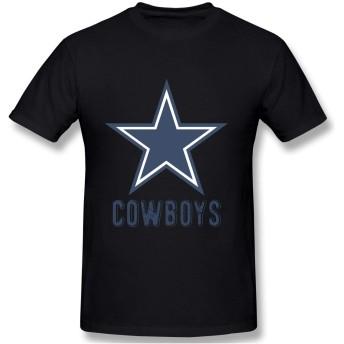 Tシャツ インナーシャツ 半袖シャツ 半袖 メンズ カットソー 綿100% アンダーシャツ カウボーイ プリント カジュアル ファッション 肌着 吸汗速乾 柔らかい 黒/グレー/白/レッド/オレンジ/ネイビー