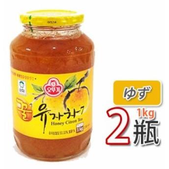 【三和】蜂蜜ゆず茶 ★ 1kg X 2個 ★ ビタミンCがレモンの3倍!美味しく風邪予防!オットギ 韓国お茶 健康茶 蜂蜜ゆず茶 韓国食材 韓国食