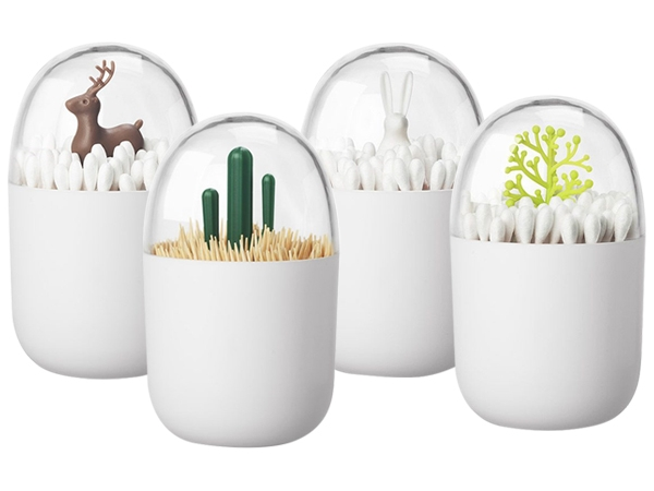 北歐個性創意牙籤桶/棉花棒收納筒(1入) 款式可選【D021229】