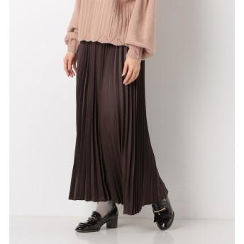 【アルシーヴ/archives】 A-サテンプリーツロングスカート