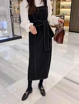 韓國空運 - Isabelle Stitch Long One Piece 長洋裝
